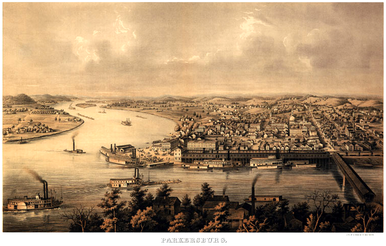 Old View of Parkersburg